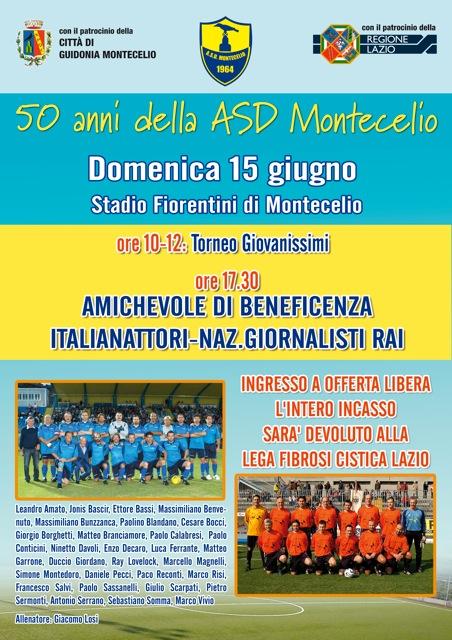 I 50 anni del Montecelio. Domenica 15 calcio e beneficenza a Montecelio